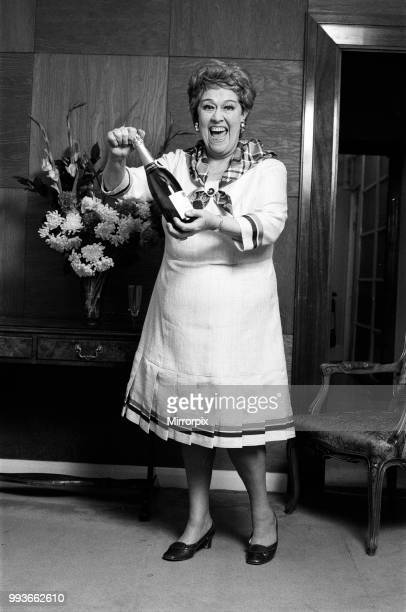 Actress Peggy Mount in Clifton slimline dresses 14th February 1973