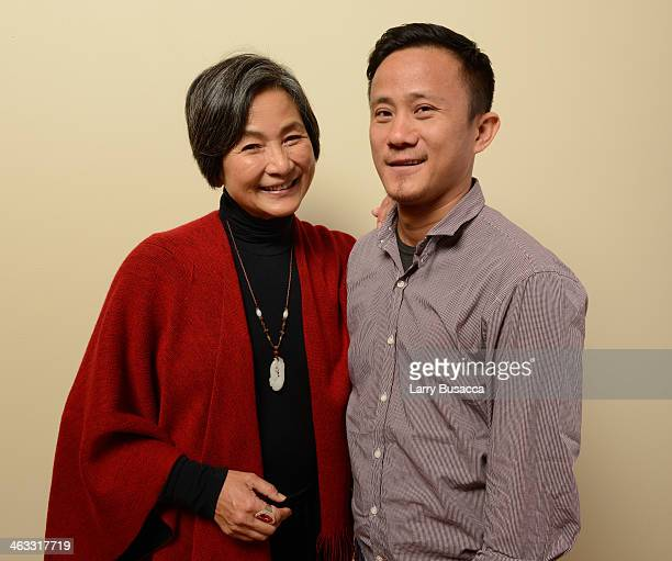 Actress PeiPei Cheng and director/screenwriter Hong Khaou pose for a portrait during the 2014 Sundance Film Festival at the Getty Images Portrait...