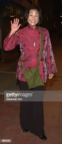Actress PeiPei Cheng arrives at the Second Annual AMMY Awards For Asian American Entertainment November 10 2001 in Los Angeles CA