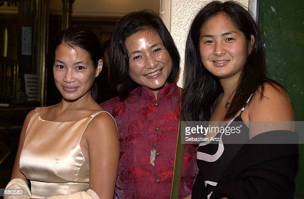 Actress PeiPei Cheng arrives with daughters Eugenia and Jennifer at the Second Annual AMMY Awards For Asian American Entertainment November 10 2001...