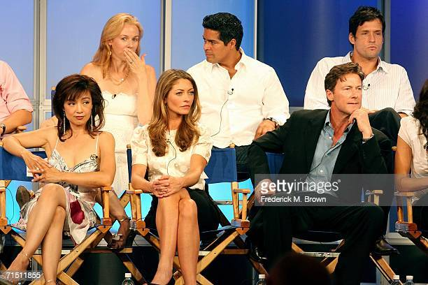 Actress Penelope Ann Miller, actor Esai Morales, actor Josh Hopkins actress Ming-Na, actress Rebecca Gayheart and actor John Allen Nelson from...