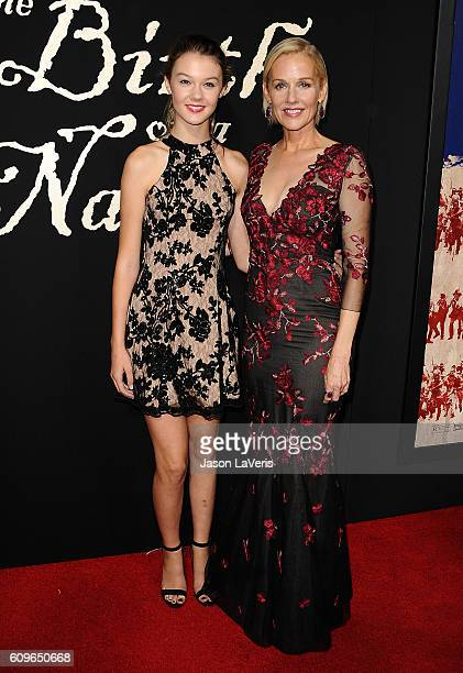 Actress Penelope Ann Miller and daughter Eloisa May Huggins attend the premiere of 'The Birth of a Nation' at ArcLight Cinemas Cinerama Dome on...