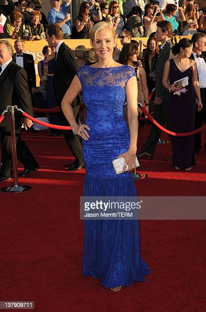 Actress Penelope Ann Miller arrives at the 18th Annual Screen Actors Guild Awards at The Shrine Auditorium on January 29 2012 in Los Angeles...
