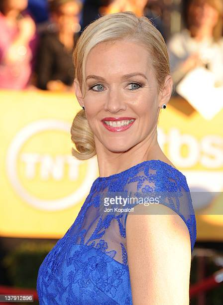 Actress Penelope Ann Miller arrives at the 18th Annual Screen Actors Guild Awards held at The Shrine Auditorium on January 29, 2012 in Los Angeles,...