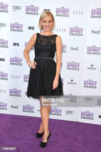 Actress Penelope Ann Miller arrives at the 2012 Film Independent Spirit Awards at Santa Monica Pier on February 25, 2012 in Santa Monica, California.
