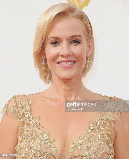 Actress Penelope Ann Miller arrives at the 67th Annual Primetime Emmy Awards at Microsoft Theater on September 20 2015 in Los Angeles California