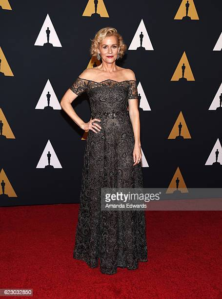 Actress Penelope Ann Miller arrives at the Academy of Motion Picture Arts and Sciences' 8th Annual Governors Awards at The Ray Dolby Ballroom at...