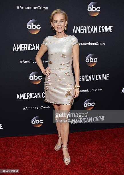 Actress Penelope Ann Miller arrives at the 'American Crime' premiere event at the Ace Hotel on February 28 2015 in Los Angeles California