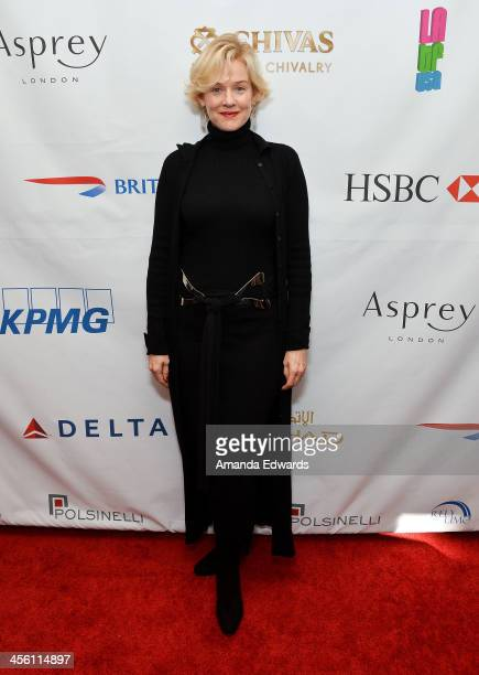 Actress Penelope Ann Miller arrives at The British American Business Council Los Angeles 54th Annual Christmas Luncheon at the Fairmont Miramar Hotel...