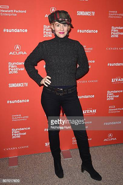 Actress Penelope Ann Miller attends the 'Mr Pig' Premiere during the 2016 Sundance Film Festival at Eccles Center Theatre on January 26 2016 in Park...
