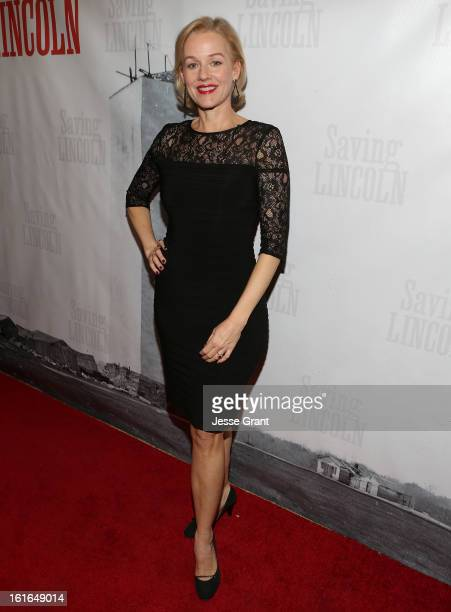 Actress Penelope Ann Miller attends the Pictures From The Fringe World Premiere of 'Saving Lincoln' at The Alex Theatre on February 13 2013 in...