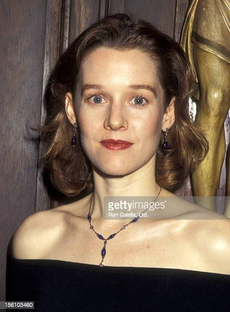 Actress Penelope Ann Miller attends the Press Conference for the Broadway Play 'On the Waterfront' on March 15 1995 at St Francis Xavier High School...