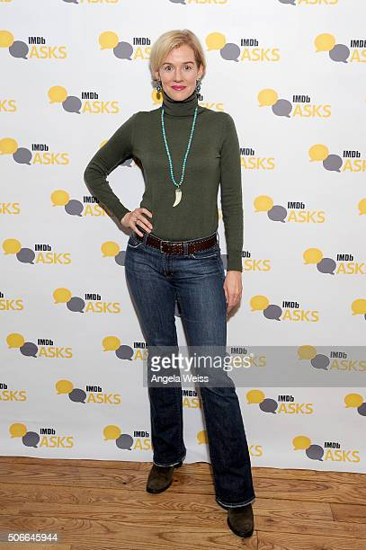 Actress Penelope Ann Miller in The IMDb Studio In Park City for 'IMDb Asks' Day Three on January 24 2016 in Park City Utah