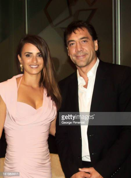 Actress Penelope Cruz and actor Javier Bardem are seen during the 2012 Toronto International Film Festival on September 13 2012 in Toronto Canada