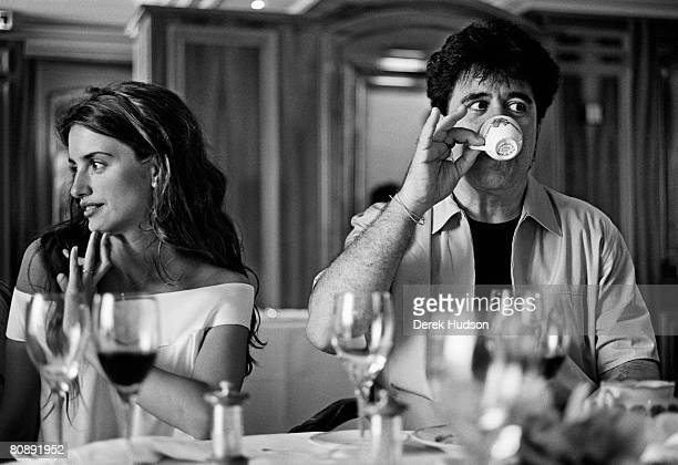 Actress Penelope Cruz and film director Pedro Almodovar at Cannes Film Festival on May 20 1999 in Cannes France
