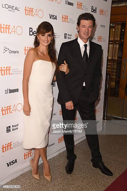 Actress Penelope Cruz and writer/director Julio Medem attend the 'Ma Ma' premiere during the 2015 Toronto International Film Festival at The Elgin on...