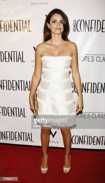 Actress Penelope Cruz arrives at LA Confidential Magazine's PreGolden Globe party honoring Penelope Cruz at the W Hotel on January 13 2007 in Los...