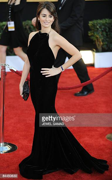 Actress Penelope Cruz arrives at the 15th Annual Screen Actors Guild Awards at the Shrine Auditorium in Los Angeles California on January 25 2009 AFP...