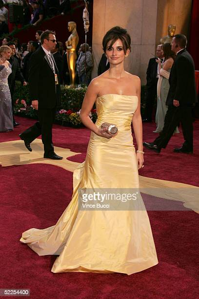Actress Penelope Cruz arrives at the 77th Annual Academy Awards at the Kodak Theater on February 27 2005 in Hollywood California