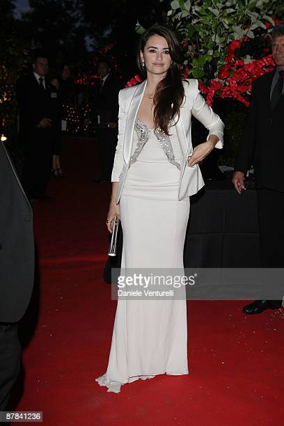 Actress Penelope Cruz arrives at the Akvinta Presents A Night of Hollywood Domino Party at The House at Cannes during the 62nd International Cannes...