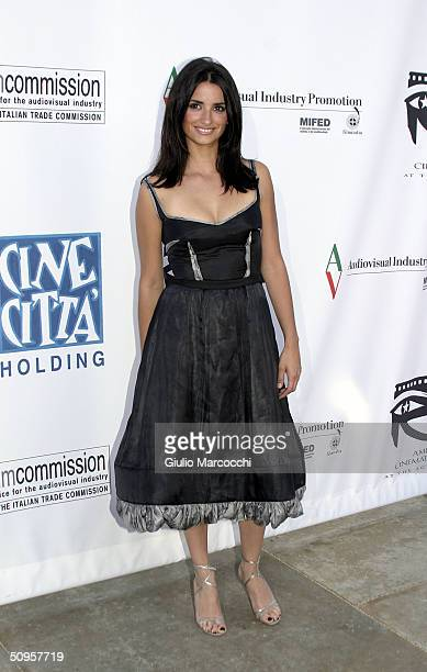 """Actress Penelope Cruz arrives at the """"Don't Move"""" screening as part of the """"Cinema Italian Style"""" festival at the Egyptian Theatre on June 13, 2004..."""