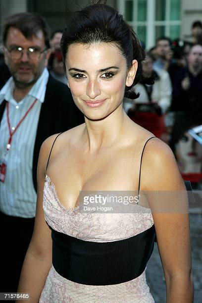 Actress Penelope Cruz arrives at the UK premiere of Volver at Curzon Mayfair on August 3 2006 in London England