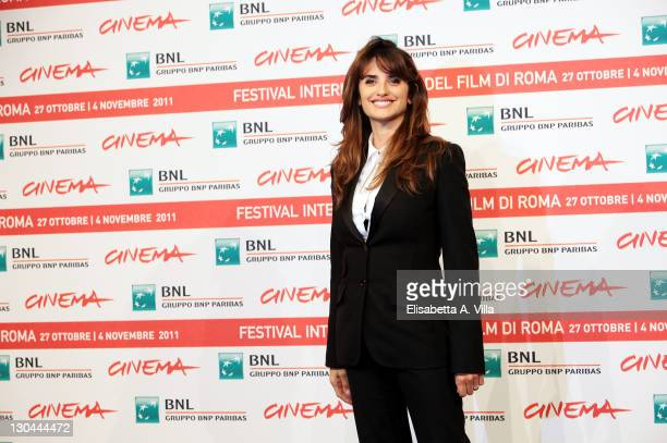 Actress Penelope Cruz attends a photocall during the 6th International Rome Film Festival at the Auditorium Parco Della Musica on October 26 2011 in...