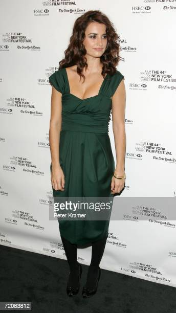 Actress Penelope Cruz attends a press conference for the movie Volver during the New York Film Festival on October 4 2006 in New York City