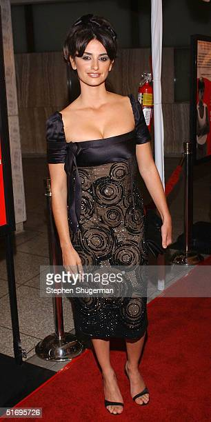 Actress Penelope Cruz attends AFI's Premiere of Bad Education at the CineramaDome at the ArcLight on November 7 2004 in Hollywood California