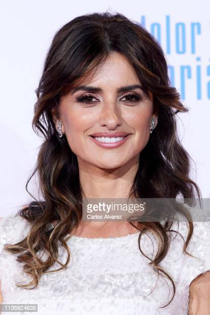 Actress Penelope Cruz attends 'Dolor y Gloria' premiere at the Capitol cinema on March 13, 2019 in Madrid, Spain.