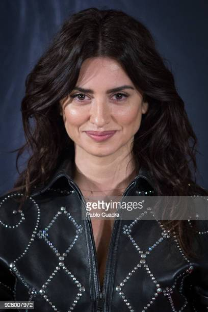 Actress Penelope Cruz attends 'Loving Pablo' photocall at Melia Serrano Hotel on March 6 2018 in Madrid Spain