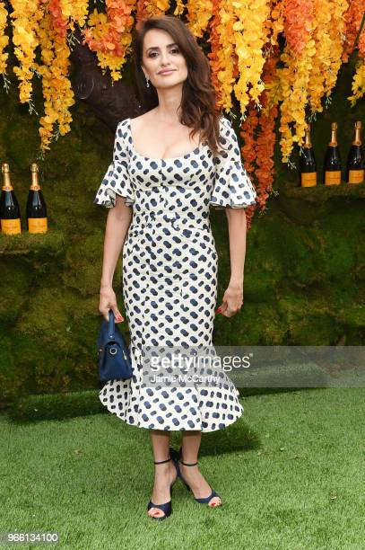 Actress Penelope Cruz attends the 11th annual Veuve Clicquot Polo Classic at Liberty State Park on June 2 2018 in Jersey City New Jersey