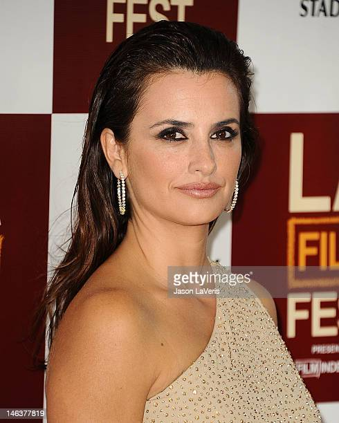 """Actress Penelope Cruz attends the 2012 Los Angeles Film Festival premiere of """"To Rome With Love"""" at Regal Cinemas L.A. LIVE Stadium 14 on June 14,..."""