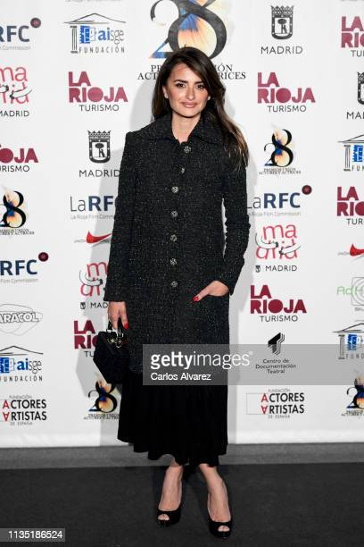 Actress Penelope Cruz attends the 28th Union de Actores awards photocall at Circo Price on March 11 2019 in Madrid Spain