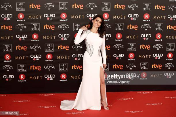 Actress Penelope Cruz attends the 32th edition of the Goya Awards ceremony in Madrid Spain on February 04 2018
