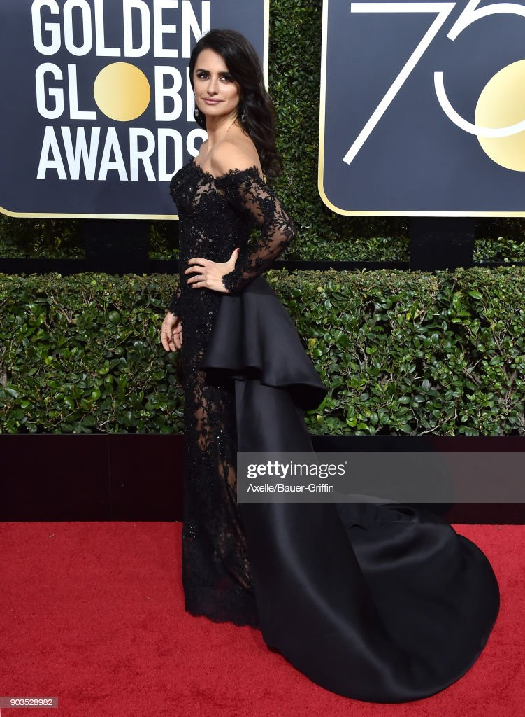 Actress Penelope Cruz attends the 75th Annual Golden Globe Awards at The Beverly Hilton Hotel on January 7, 2018 in Beverly Hills, California.