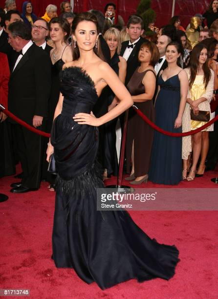 Actress Penelope Cruz attends the 80th Annual Academy Awards at the Kodak Theatre on February 24 2008 in Los Angeles California