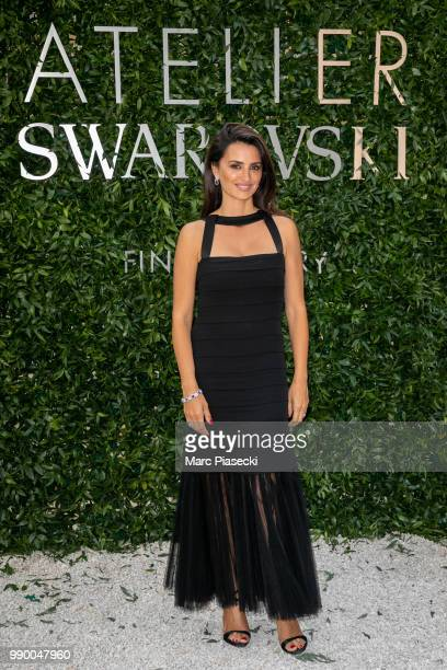 Actress Penelope Cruz attends the Atelier Swarovski Cocktail Of The New Penelope Cruz Fine Jewelry Collection as part of Paris Fashion Week on July 2...