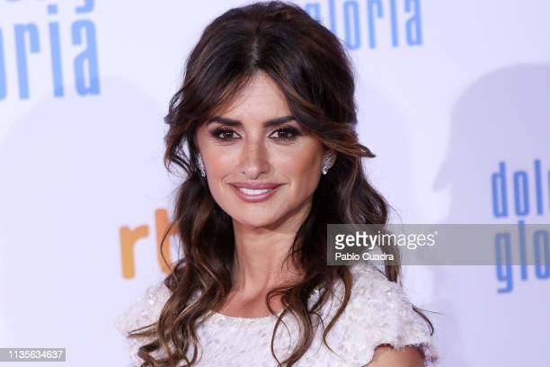 Actress Penelope Cruz attends the 'Dolor y Gloria' premiere at Capitol cinema on March 13 2019 in Madrid Spain