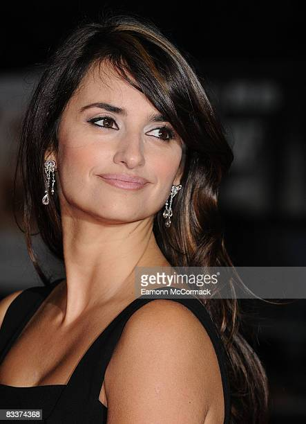 Actress Penelope Cruz attends the gala screening of Vicky Cristina Barcelona at Odeon West End on October 21 2008 in London England