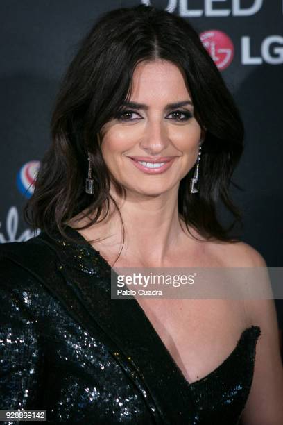 Actress Penelope Cruz attends the 'Loving Pablo' premiere at Callao Cinema on March 7 2018 in Madrid Spain