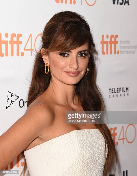 Actress Penelope Cruz attends the 'Ma Ma' premiere during the 2015 Toronto International Film Festival at The Elgin on September 15 2015 in Toronto...