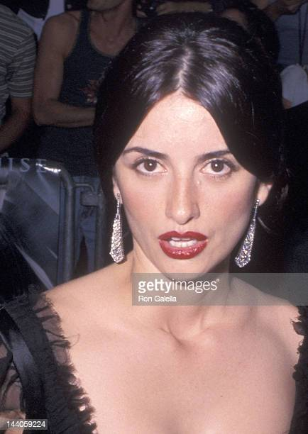 Actress Penelope Cruz attends the 'Minority Report' New York City Premiere on June 17 2002 at the Ziegfeld Theatre in New York City