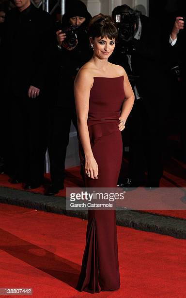 Actress Penelope Cruz attends the Orange British Academy Film Awards 2012 at the Royal Opera House on February 12 2012 in London England