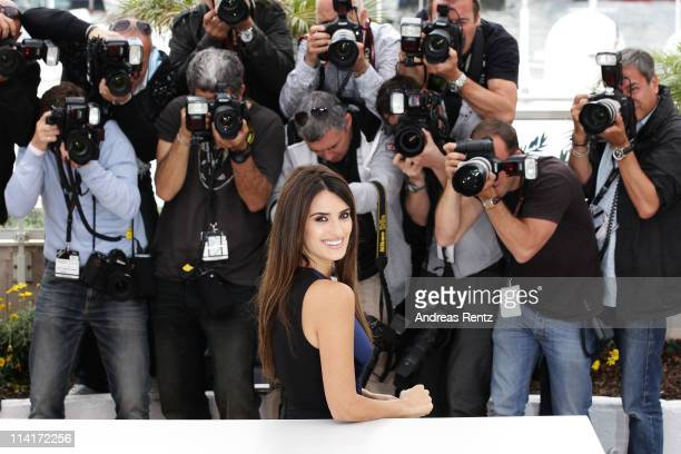 """Actress Penelope Cruz attends the """"Pirates of the Caribbean: On Stranger Tides"""" photocall at the Palais des Festivals during the 64th Cannes Film..."""
