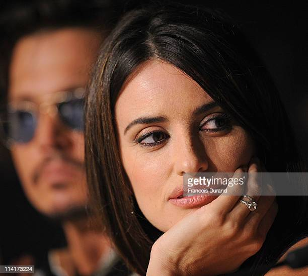 Actress Penelope Cruz attends the 'Pirates of the Caribbean On Stranger Tides' press conference at the Palais des Festivals during the 64th Cannes...