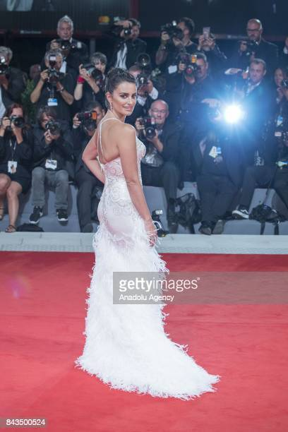 actress Penelope Cruz attends the red carpet of the movie 'LOVING PABLO' during 74th Venice International Film Festival at Palazzo del Casino in Lido...