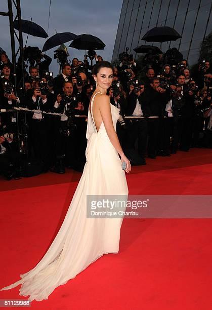 Actress Penelope Cruz attends the Vicky Cristina Barcelona premiere at the Palais des Festivals during the 61st Cannes International Film Festival on...