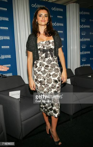 Actress Penelope Cruz attends the Volver press conference during the Toronto International Film Festival held at the Sutton Place Hotel on September...