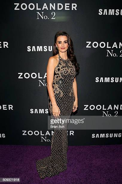 Actress Penelope Cruz attends the 'Zoolander No 2' World Premiere at Alice Tully Hall on February 9 2016 in New York City